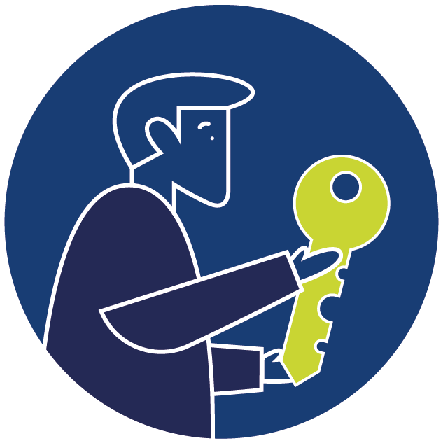 family legal services man with key